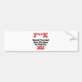 harold bumper sticker