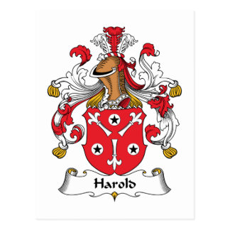 Harold Family Crest Post Card