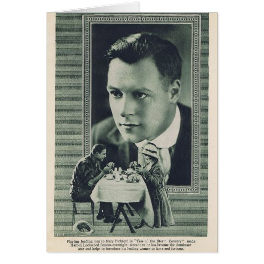 Harold Lockwood Mary Pickford 1917 Card