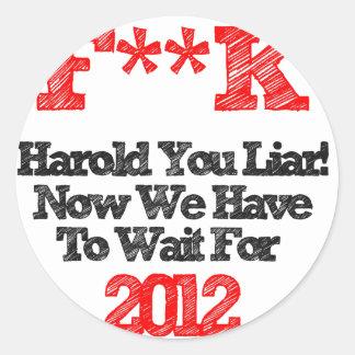 harold round sticker