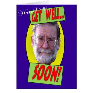 Harold says 'Get well soon' Card