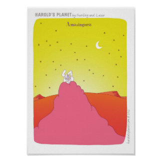 """HAROLD'S PLANET"" ""new baby"" baby Poster"