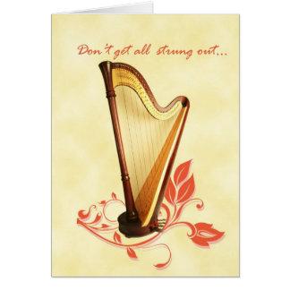 Harp Birthday Card