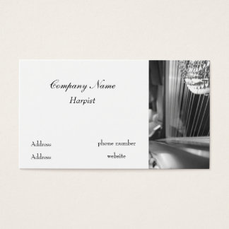 Harp Business Card Black and White