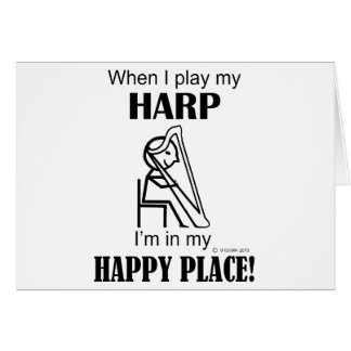 Harp Happy Place Card