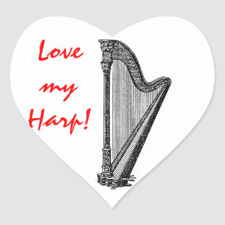 Harp Heart Sticker