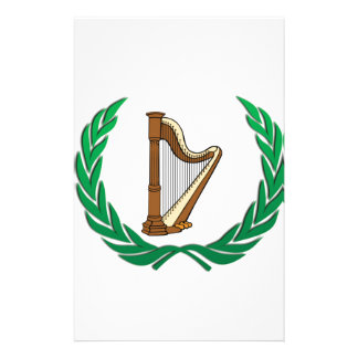 harp in a olive branch stationery