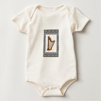 harp in a rectangle baby bodysuit