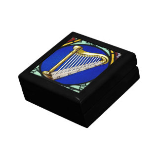 Harp in Stain Glass Box