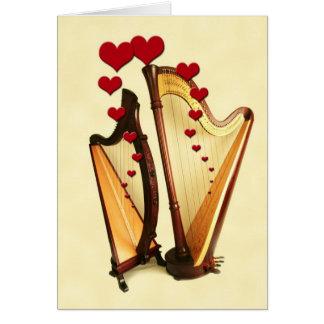 Harp Love Note Card