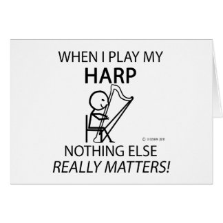 Harp Nothing Else Matters Greeting Card