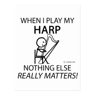 Harp Nothing Else Matters Postcard