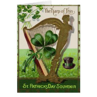 Harp of Erin St. Patrick's Day Vintage Card