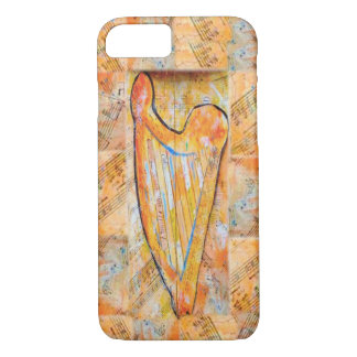 Harp of Gold music patchwork iPhone 8/7 Case