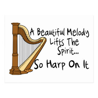 Harp On It Postcard