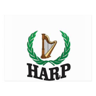 harp on the harp postcard