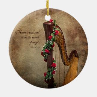 Harp Ornament