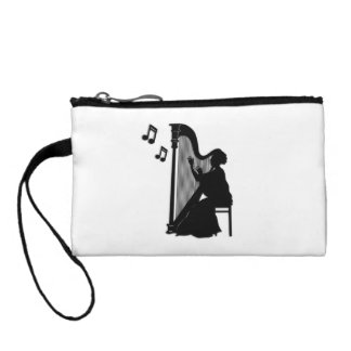 Harp Player Harpist Coin Purse