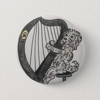 Harp puppy 2 inch round button