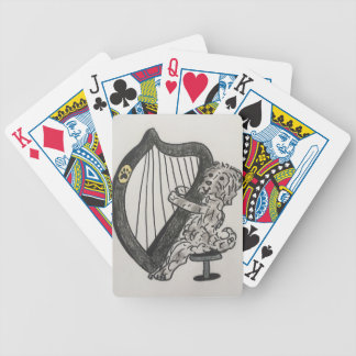 Harp puppy bicycle playing cards