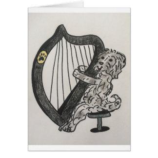 Harp puppy card