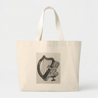 Harp puppy large tote bag
