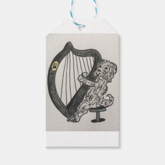 Harp puppy pack of gift tags