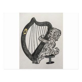 Harp puppy postcard