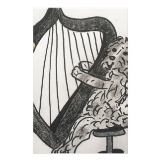 Harp puppy stationery
