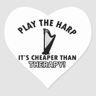 harp therapy design heart sticker