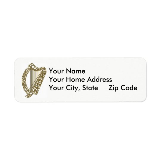 Harp, who goes there? Return Address Label