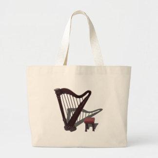 HarpAndBench121210 Large Tote Bag