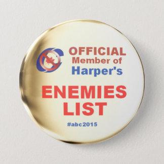 Harper Enemies List 3 Inch Round Button