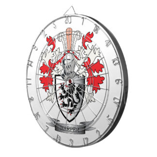 Harper Family Crest Coat of Arms Dart Boards