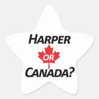 Harper or Canada? Merchandise Star Sticker