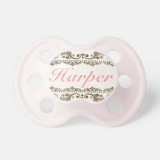 """""""Harper"""" Personalized Name Vintage Pacifier"""