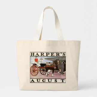 Harpers August 1899 Cover Jumbo Tote Bag
