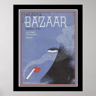 Harper's Bazaar Art Deco 1936 Cover  16 x 20 Poster