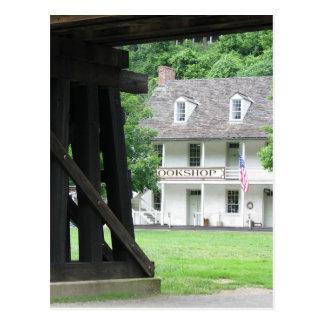 Harpers Ferry WV Bookstore & Railroad Postcard