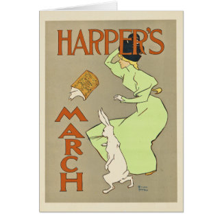 Harper's March note card