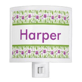 Harper's Personalized Iris  Night Light