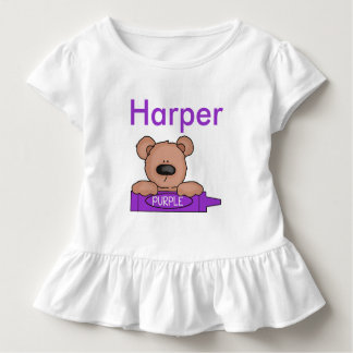 Harper's Personalized Teddy Toddler T-shirt