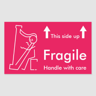 Harpist Handle with care Sticker