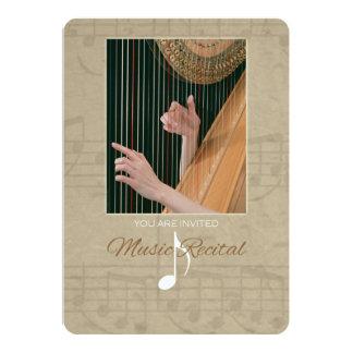 Harpist Music Recital Invitation