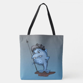 HARPO ALIEN MONSTER CUTE TOTE CARTOON TOTE BAG