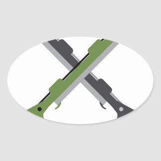 Harpoon vector oval sticker