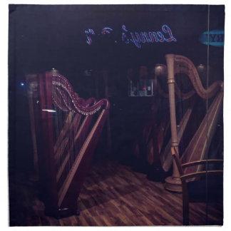 Harps in shadow napkin