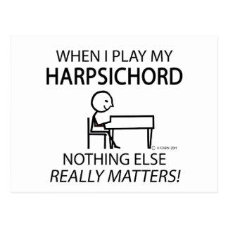 Harpsichord Nothing Else Matters Postcard