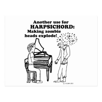 Harpsichord Zombie Explode Postcard