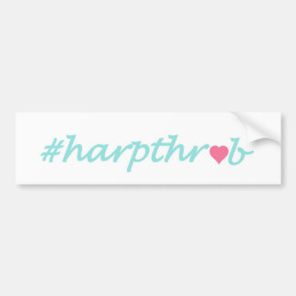 Harpthrob Bumper Sticker